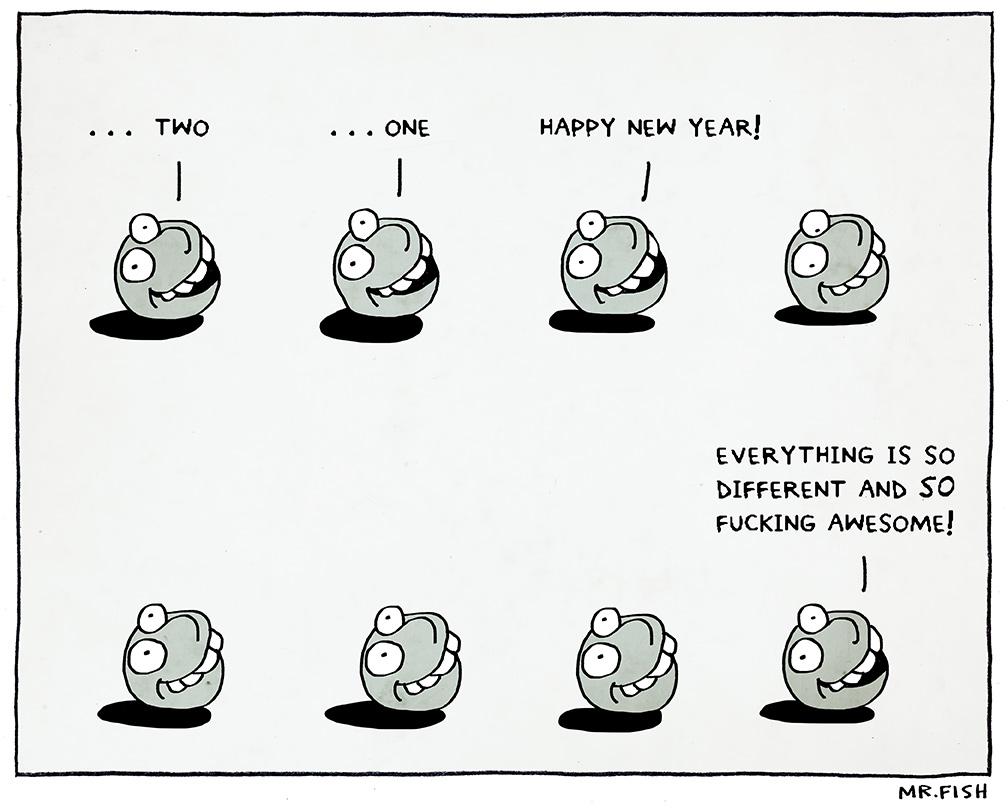 Mr. Fish | Happy New Year / www.clowncrack.com