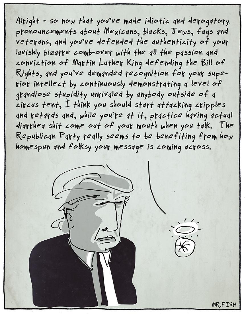 Mr. Fish | Donald Trump / www.clowncrack.com